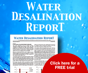 Water desalination report advert